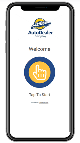 Contactless Test Drive Welcome Page